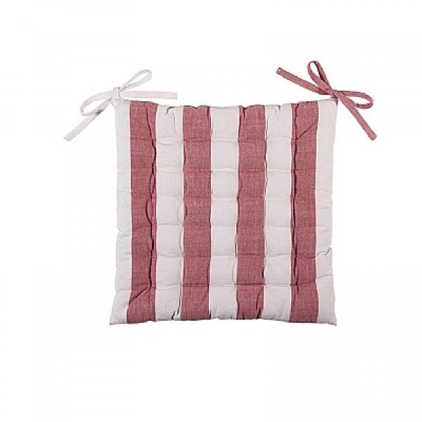 LEAL Pink and White Stripe Seat Pad