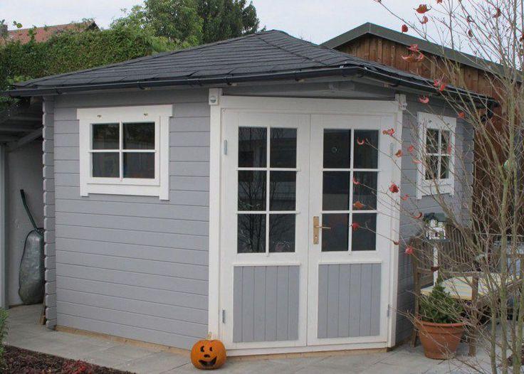 Gartenhaus schwedenstil grau  47 besten Gartentrend grau-weiß Bilder auf Pinterest | Gartenhaus ...