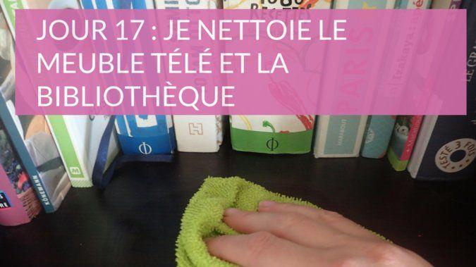 Nettoyage meuble tv bibliotheque