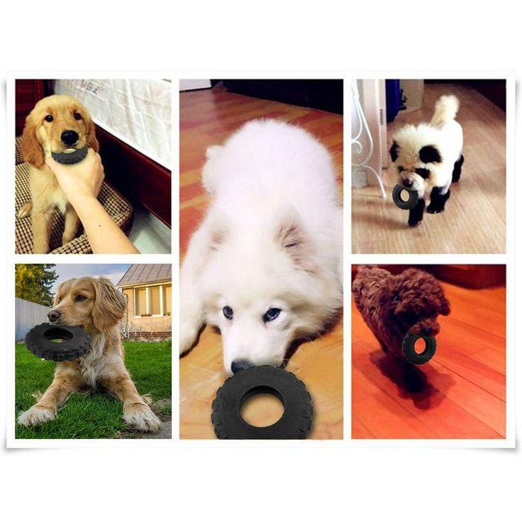 ALL FOR PAWS Dog Tires Toys Wheel Dental Chew Toys Black