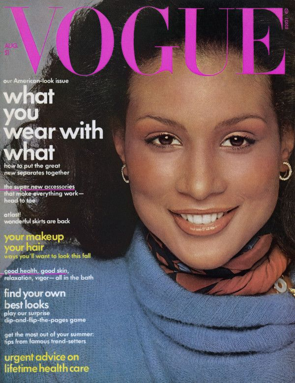 Beverly Johnson - the first black model on American Vogue cover for August 1974 issue