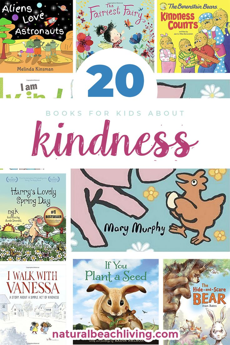 20 Books for Kids about Kindness, Kindness Books, Encourage Kindness with these wonderful children's books. Children's books about being nice to others, Teach your kids about being kind to others, Random acts of kindness ideas, Kindness can be taught and learned like any other life skill. Great Books like these provide children with models of kindness, children's books about being kind to friends #kindness #childrensbooks #books #kindnessmatters #booksforkids #randomactsofkindness
