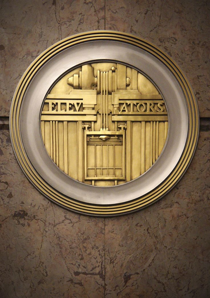 Art Deco Elevators Signs at Empire State Building in New York City.  Photo by Sylvain Martel | #ArtDeco