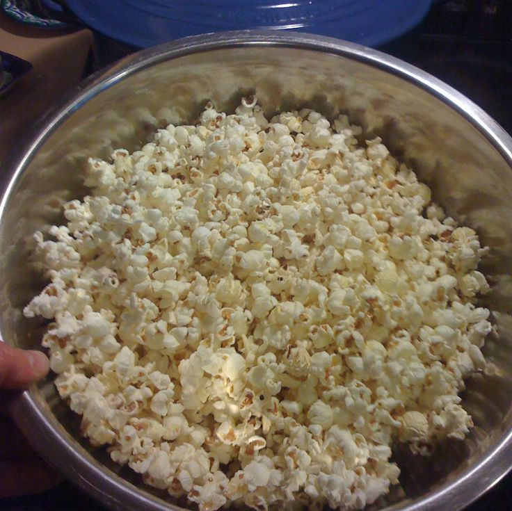 Popcorn fresh from an enameled cast iron dutch oven   An enameled cast iron dutch oven  is an ideal way to make popcorn. The end result is...