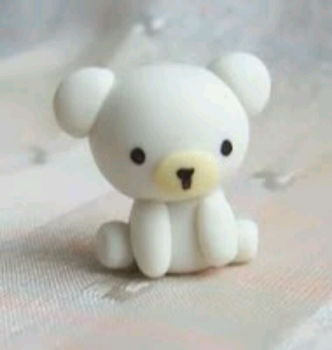 Diy polar bear polymer clay diy pinterest bears diy - Idee de pate fimo ...