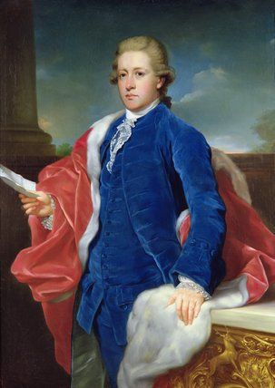 William Cavendish, 5th Duke of Devonshire(1748-1811)by Anton von Maron(1733-1808)