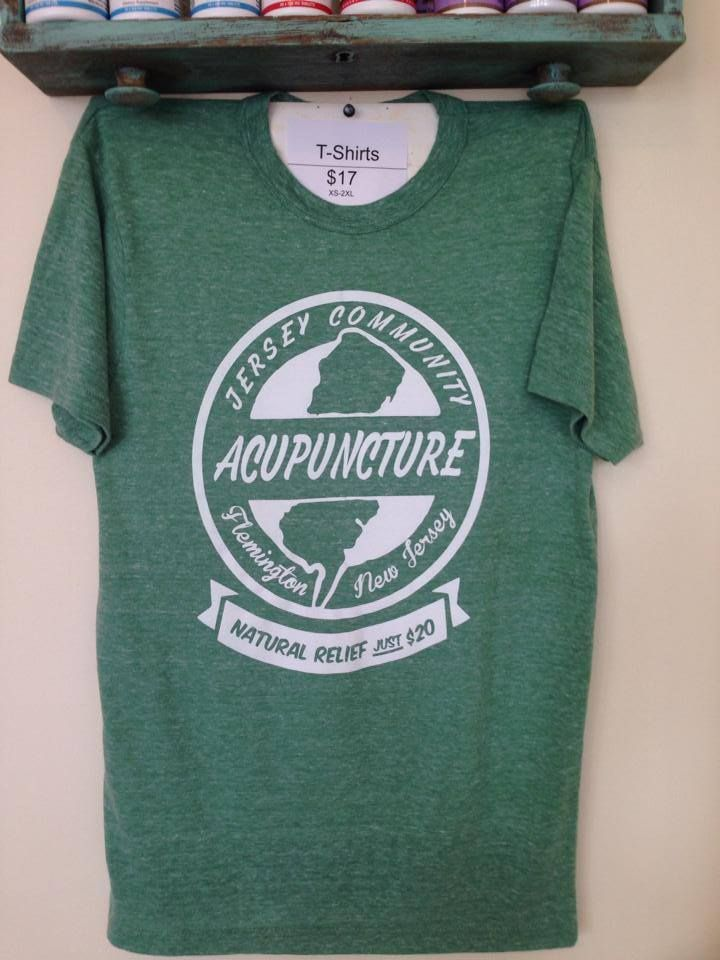 Jersey Community Acupuncture T Shirts are here! Buy one at www.JerseyAcu.com!