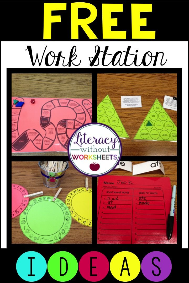 Literacy Without Worksheets: Literacy Work Station Ideas that are FREE and easy to make!