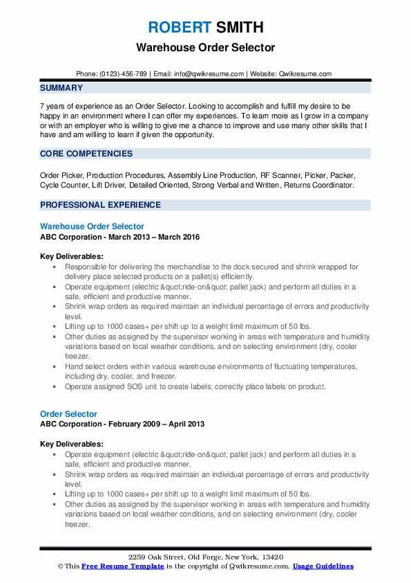 Order Selector Resume Louiesportsmouth Com Resume Examples Business Analyst Resume Business Analyst