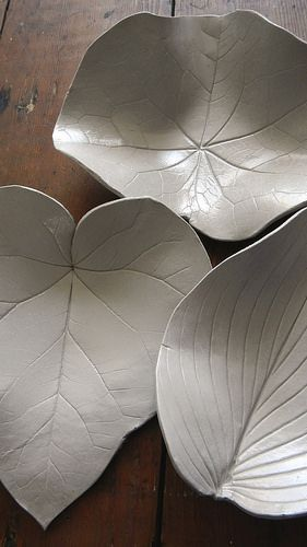 Clay leaf bowls - did More