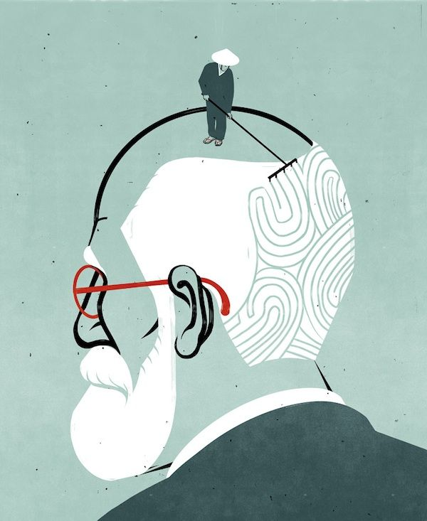 Freud and the Far East - illustrated by Alessandro Gottardo aka SHOUT #conceptualillustration www.dutchuncle.co.uk/shout-images