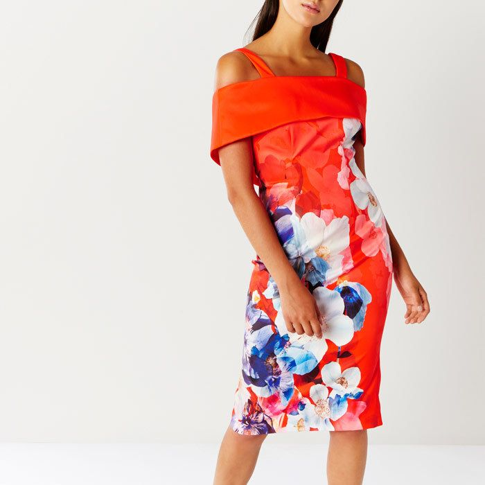 The off the shoulder look that's super fashionable right now, but with straps as well (means it fits Ascot style guide). Coast Immo Print Shift Dress, Affiliate