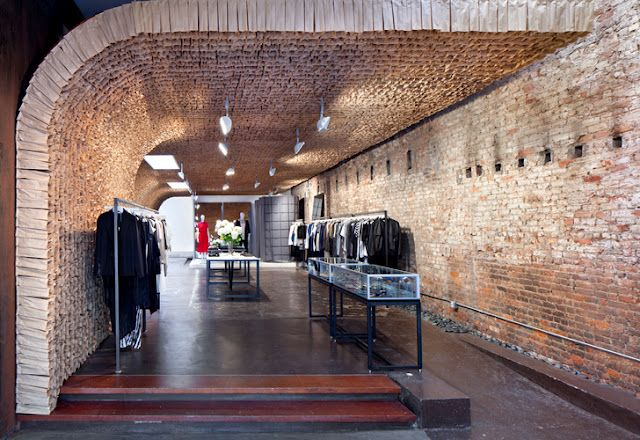 Brown paper bags into artful structure - @TACKLEBOX: OWEN Boutique by Tacklebox
