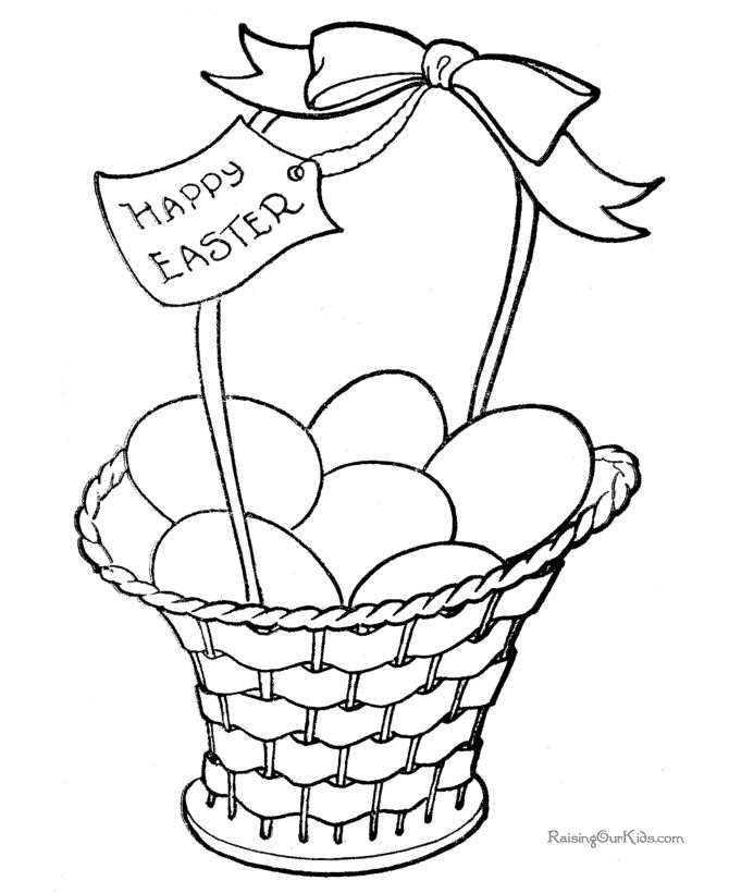 FREE, printable Easter coloring pages - hundreds to print and color!