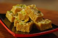 Mohanthal: A rich besan burfi with loads of dried fruits.