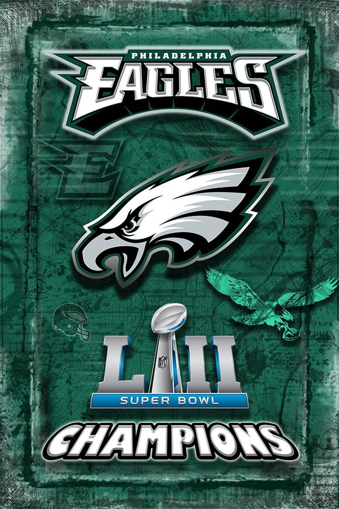 Philadelphia Eagles Super Bowl Championship 2018 Poster, Philadelphia                       – McQDesign