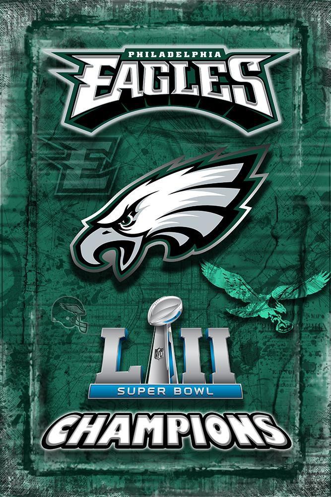 Philadelphia Eagles Super Bowl Championship 2018 Poster Philadelphia Eagles Artwork Map Man Cave Philadelphia Eagles Super Bowl Philadelphia Eagles Philadelphia Eagles Football