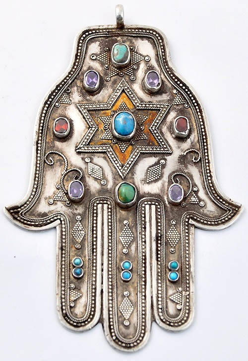 Hamsa Jewellery: This symbol is predominantly used in the middle east and is a symbol of protection against the evil eye. It goes by different names in different religions but I like the fact that it's meaningful to multiple cultures. On a more shallow note the middle eastern design looks brilliant on necklaces and bracelets especially mixed with some precious stones. It makes outfits look more individual also because of the varying designs available. Staple jewellery piece. 4/2/13