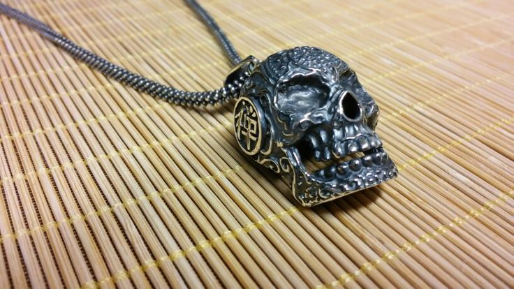 From #KingsRoadCollection sterling silver big skull pendant