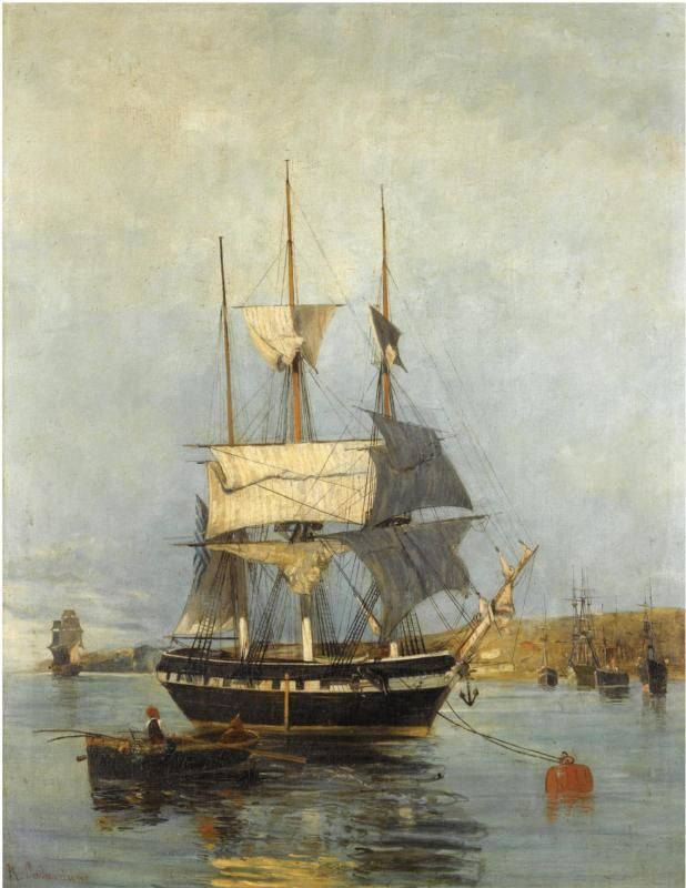 Greek ship \\ Konstantinos Volanakis  (1837- 1907)