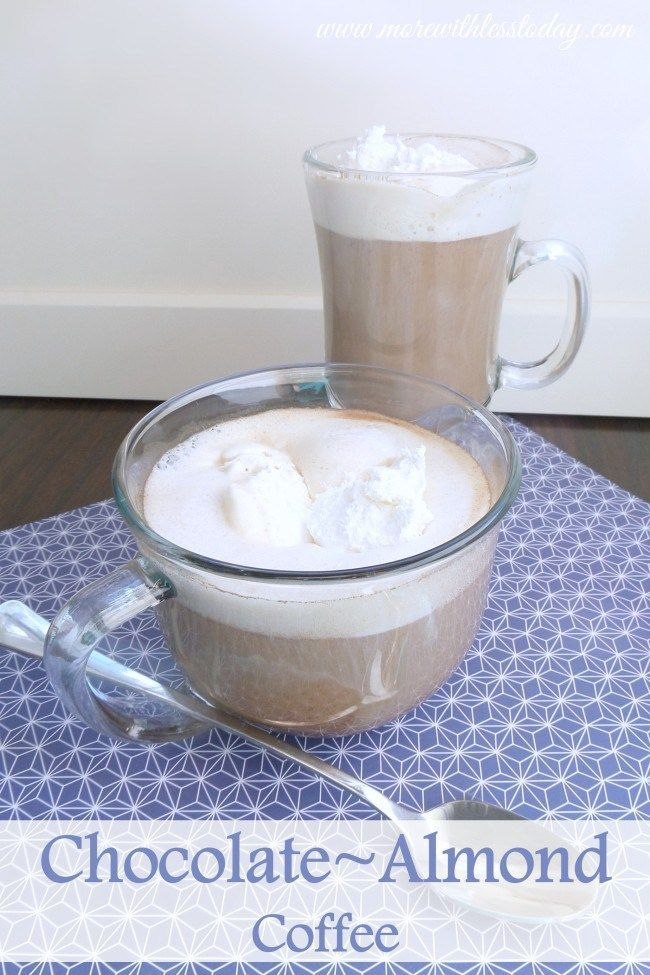 Make your own delicious coffee house drink at home. This warm and delicious Chocolate Almond Coffee recipe is so easy and inexpensive.