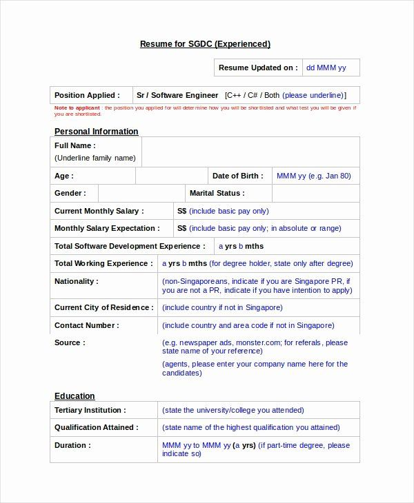 Embedded Software Engineer Resume Best Of Software Engineer Resume Template 6 Free Word Free Resume Template Word Resume Software Engineering Resume Templates