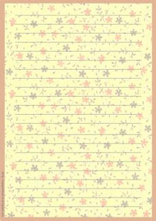 Papéis de Carta e Envelopes - Papel de Carta e Envelope - Papel de Carta e Envelope para imprimir: Flores - Floral com envelopes: