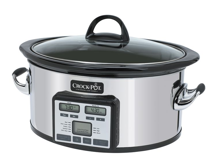 "NEW! Crock-Pot®  Slow Cooker with Smart Cook™ Technology -- A modern design and revolutionary programmable control will change the way you use your slow cooker. The ""Ready At"" feature will have your meal ready at the time you want it to be. #CrockPot #SlowCooker #CrockPotBrand #slowcooking"