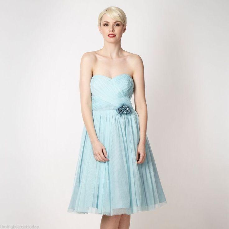Pale Green Strapless Dress