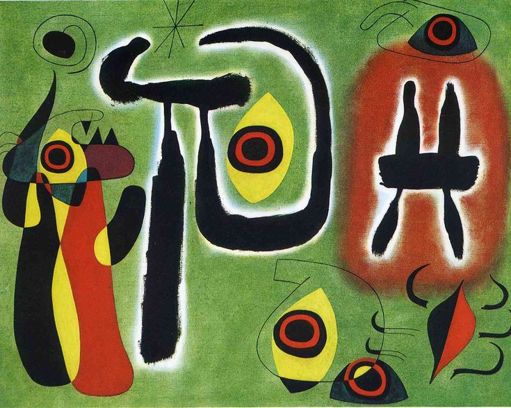 The Red Sun Gnaws at the Spider - Joan Miro 1948