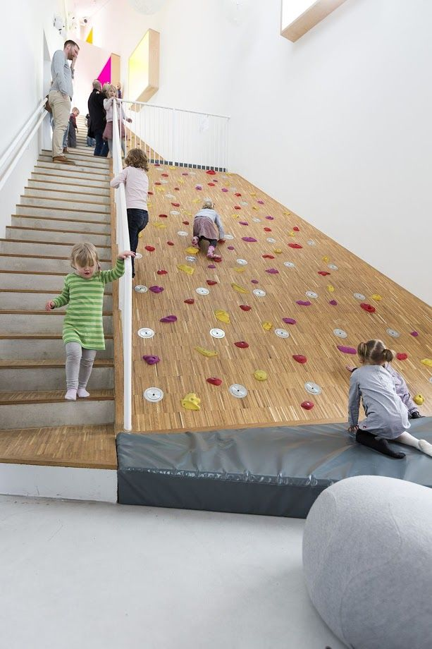 Ama'r Children's Culture House in Copenhagen by Dorte Mandrup: a house for children built as if it is a mountain!