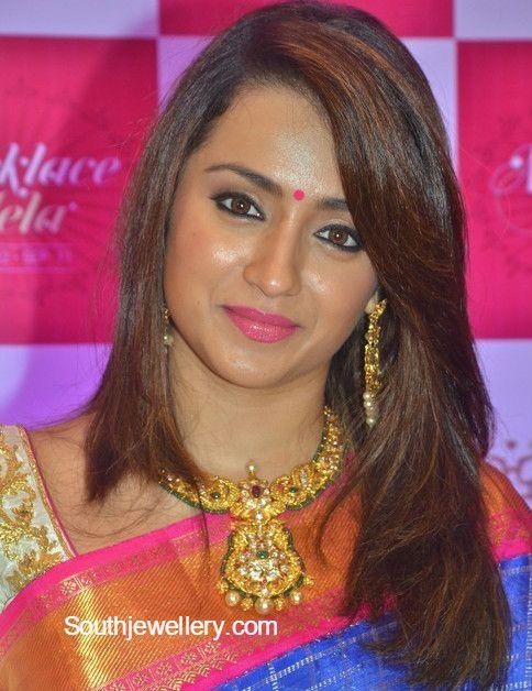 Trisha Krishnan in Antique Gold Jewellery