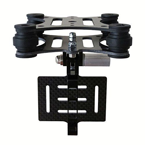 Hobbypark FPV Camera Mount Gimbal with Anti Vibration Plate Dampener Anti-Jello Carbon Fiber For DJI Phantom 1 2 Gopro Hero 3 3+ 4 Walkera Qr X350 Syma X8C Quadcopter