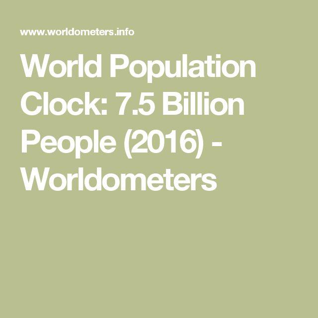 World Population Clock: 7.5 Billion People (2016) - Worldometers