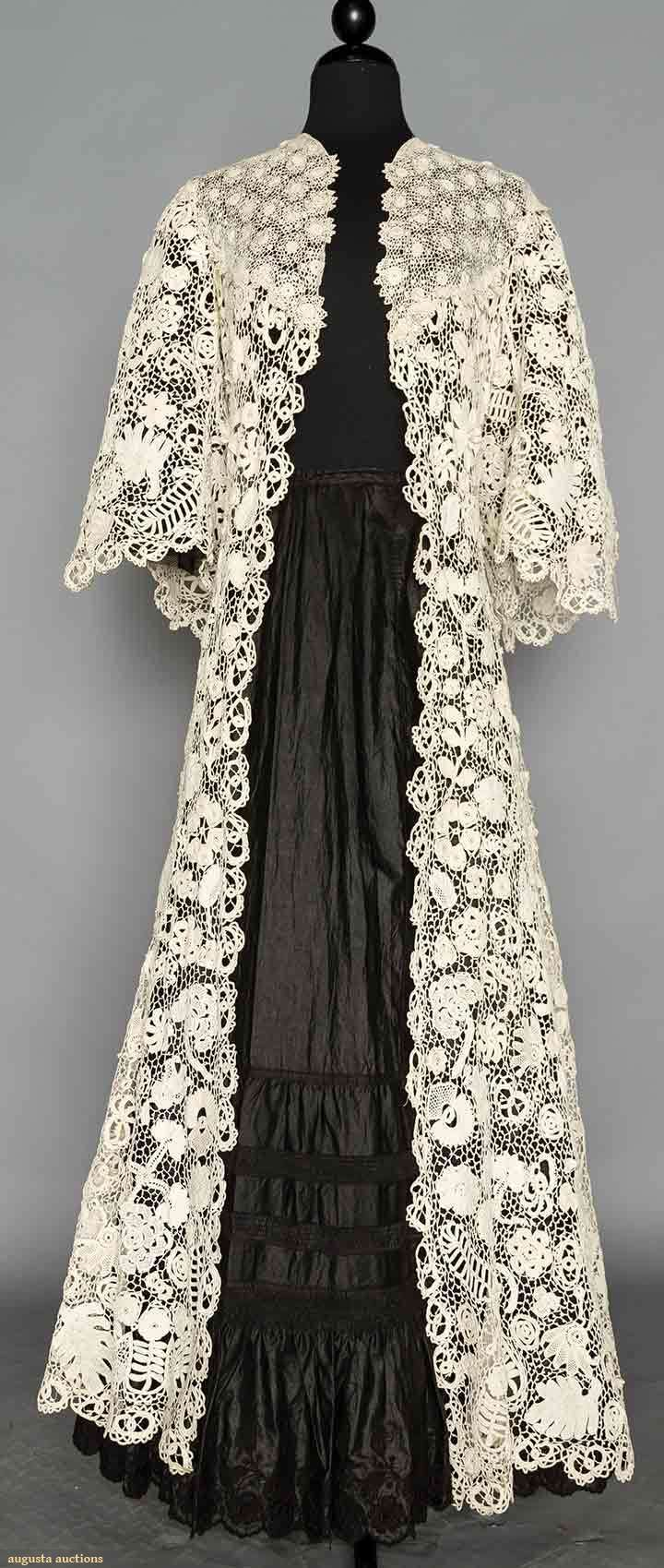 HAND MADE IRISH LACE COAT, 1908-1910 | Augusta Auctions