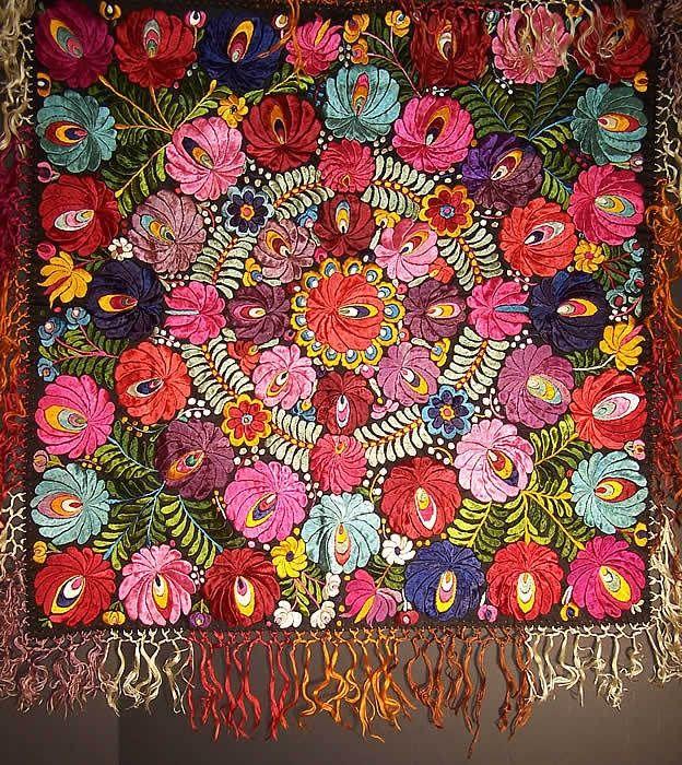 hungarian folk embroidery | Vintage Matyo Hungarian Folk Embroidery