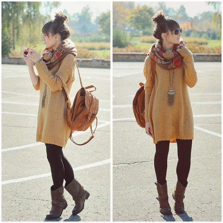 Sweater dress looks super comfy!
