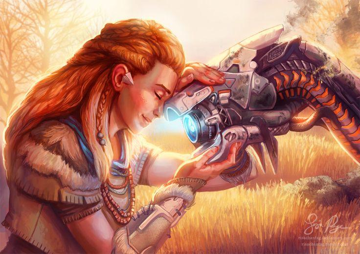 Horizon Zero Dawn: Well Done Little One by Risachantag.deviantart.com on @DeviantArt