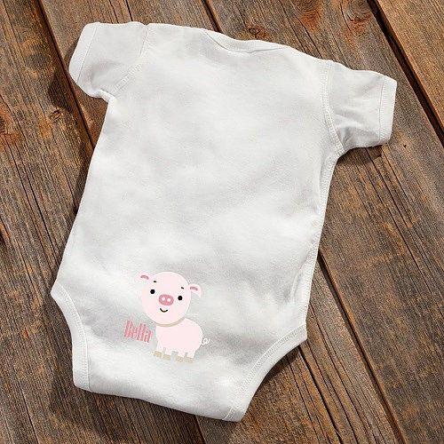 Personalized Baby Bottom Onsies