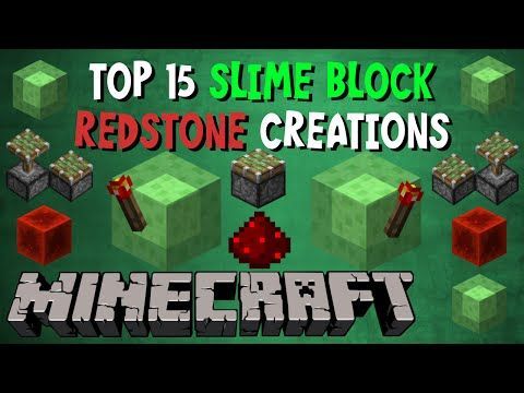 Top 15 Slime Block Redstone Creations - YouTube