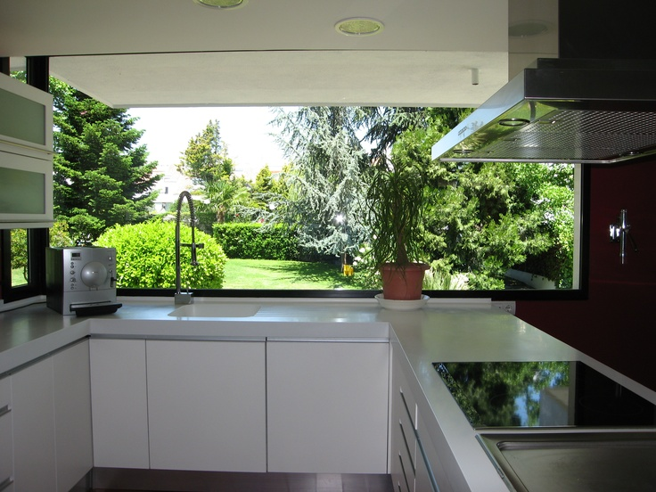 Entrada de la luz natural a la cocina.
