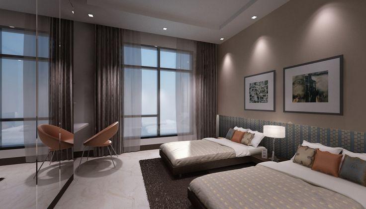 Renders 3d For Master Bedroom Project: Twin Bedroom, Modern Bedroom, 3ds Max, 3d Render
