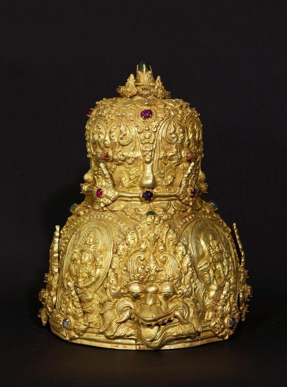 Royal Gold Crown : Majapahit Kingdom, Eastern Java 15th century