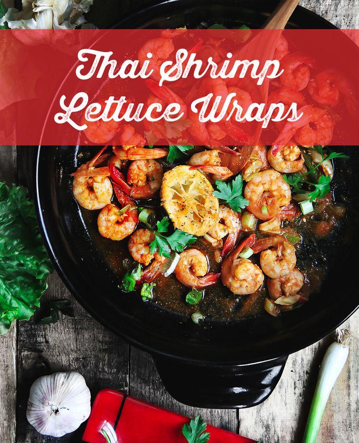 Thai Shrimp Lettuce Wraps Recipe @xtremacookware