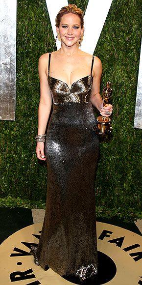 JENNIFER LAWRENCE AT THE OSCARS photo | Jennifer Lawrence in Calvin Klein