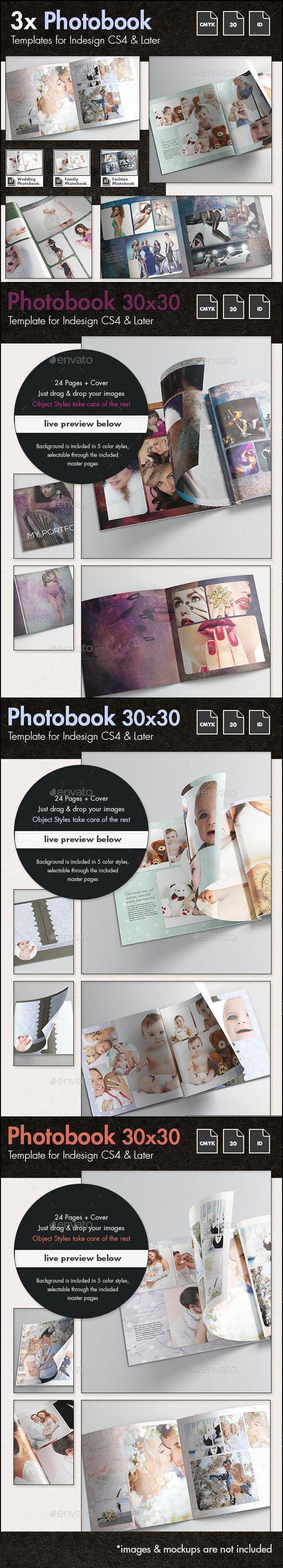 3x Photobook Album Template Bundle - #Photo Albums Print Templates Download here:   https://graphicriver.net/item/3x-photobook-album-template-bundle/12782115?ref=alena994