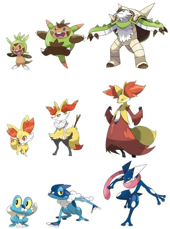 Chesnaught delphox and greninja pokemon pinterest pok mon - X evolution pokemon ...