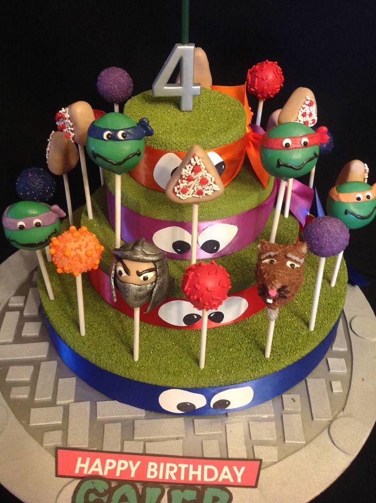 Ninja Turtle Cake Pops TMNT Cake Pops Ninja Turtle Party