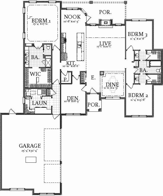 10000 Sq Ft House Plans Elegant Traditional House Plan 3 Bedrooms 2 Bath 2400 Sq Ft Plan House Plans Modern Style House Plans House Design