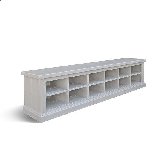 Shoe Cubby Bench Storage Reclaimed Wood Handmade